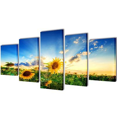 Canvas Art Painting Modern Home Wall Decor Picture Print Framed Sunflower 39