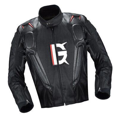 Motorrad Schutzkleidung Jacken Motorradjacke mit Protektoren für Rennen M
