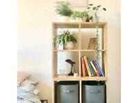Wood box shelving storage units (set of 4)