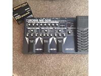 Boss Me-50 bass effects pedal with power cable