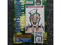 Pompey fans 7th May 1995 programme complete with souvenir VE day programme