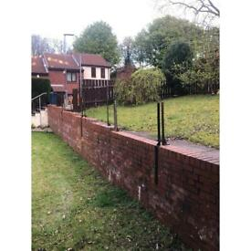 Iron fence posts FREE