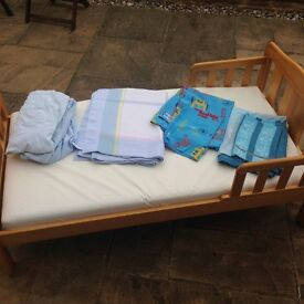 Childs bed including mattress and bedding