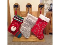 Little stocking hanging picket fence
