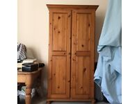 Solid pine wood wardrobe, in good condition