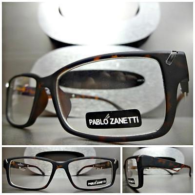 Herren Damen Moderne Stil Klarglas Brillen Matt Schildplatt Brillengestell