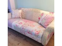 3 seater sofa and left hand chaise longue