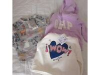 Baby girl top and hoodies brand new with tags ( Gap, ZARA, Next )9-12 months