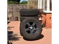 5 wheels & tyres for jeep grand cherokee