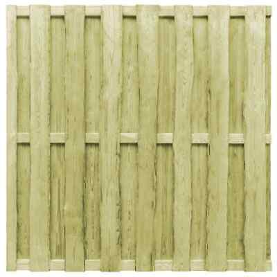 vidaXL Hit and Miss Fence Panel FSC Pinewood 180x180cm Green Fencing Screen