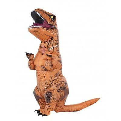 Inflatable T Rex Child Costume Jurassic World Fits 5 7 Years Blowup Dinosaur New
