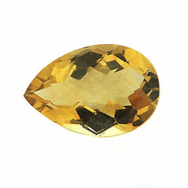 Genuine Natural Golden Citrine AAA Pear Faceted Loose Gemstones (4x3mm - 10x7mm)