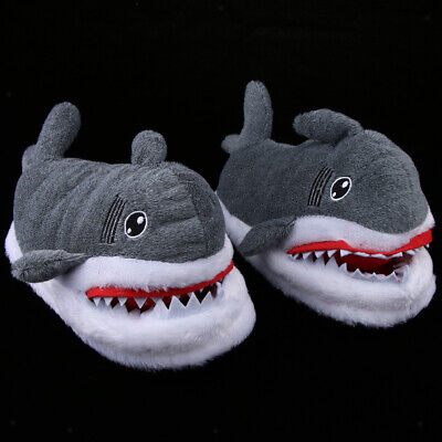 Cute Plush Shark Shape Slipper Indoor Home Winter Slippers Adult Funny Shoes - Shark Slippers Adult