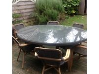 Patio Oval Table and 8 Chairs
