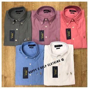 Ralph-Lauren-Long-Sleeve-Men-039-s-Oxford-Shirt