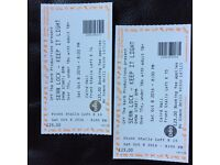 Two Sean Loch tickets for tonight for Caird Hall, Dundee.