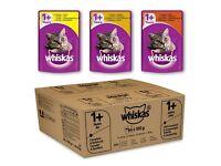 BNIB Whiskas Selection in Gravy Wet Cat Food Pouches 84 pk
