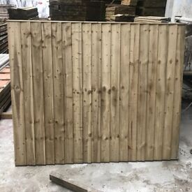 Heavy duty feather edge fence panels pressure treated