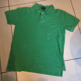 Ralph Lauren green polo shirt boys 14-16