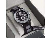 Globenfeld Mens Designer Black Sports Watch - RRP £435