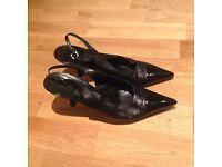 Salvatore Ferragamo Black Heels UK 7.5 100% Genuine £50 Bargain
