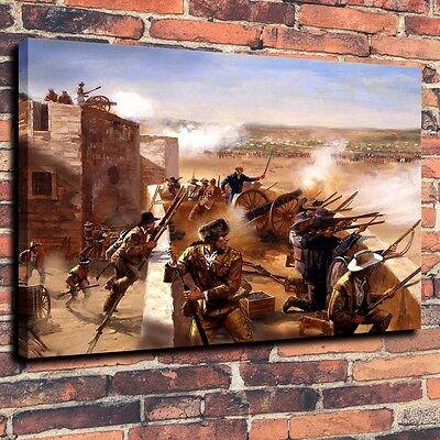 Home Decor Art Quality Canvas Print,Oil Painting Western, Texas Revolution 16x20