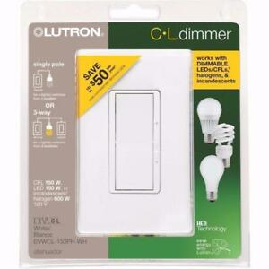 Lutron Diva C.L Dimmer for Dimmable LED, Halogen and Incandescent Bulbs, Single-Pole or 3-Way (Open Box)