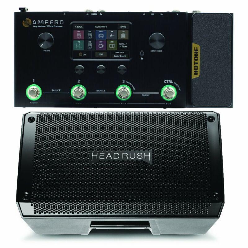 Hotone Ampero Pedalboard and Headrush FRFR108 Bundle