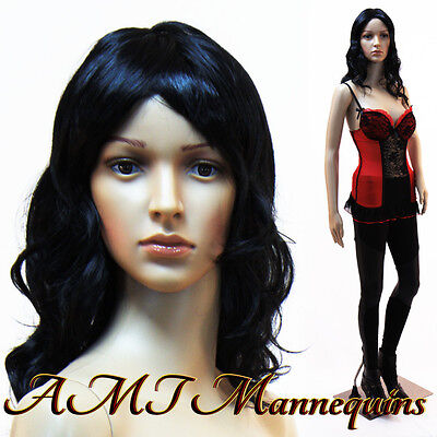 Female Mannequin Metal Stand Head Arm Rotates Full Body Manikin-cf32wigs