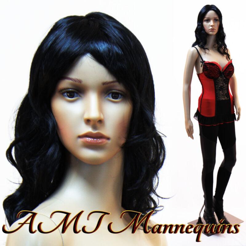 Female mannequin+ metal stand, Head / arm rotates, Full body manikin-CF3+2Wigs