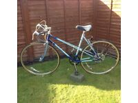 RALEIGH RACING BIKE 21 inch FRAME 27 inch WHEELS, IN VERY GOOD CONDITION