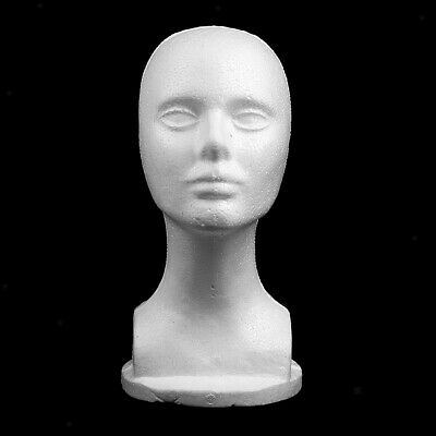 12 Styrofoam Foam Mannequin Manikin Display Head Wig Hat Stand White Foams