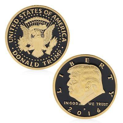 Rare Donald Trump Republican Convention US Gold Black Eagle Collection Gift Coin