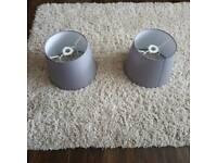 Ikea grey lamp shades pair
