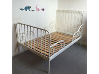 IKEA white metal toddler bed, CAN DELIVER