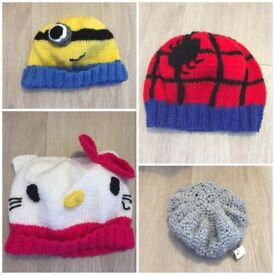 Hand-knitted kids hats