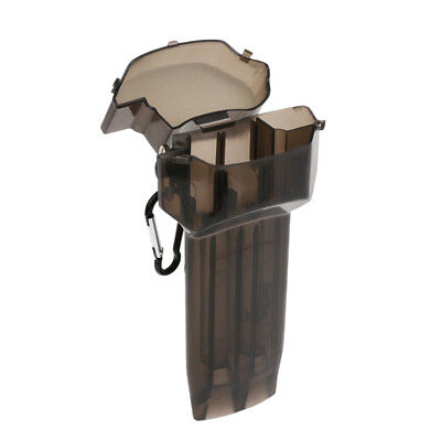 Portable Lightweight Plastic Transparent Dart Case with Lock Hook Black