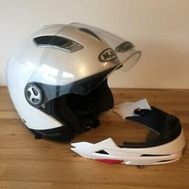 HJC motorbike helmet full or open face, cost £200