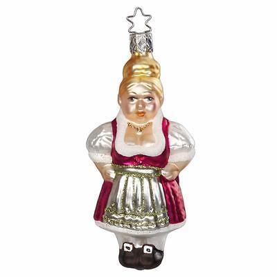 Inge-Glas 68917 Erika Mrs. Claus German Hand Blown Christmas Ornament
