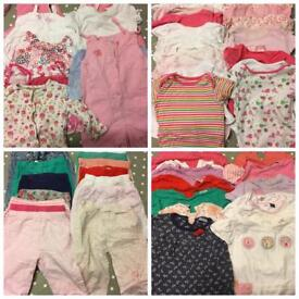 Girls 9-12 Months Clothes Bundle - Over 65 Items