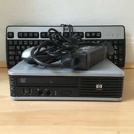 HP dc7900 Ultra Slim Desktop PC with Power Adaptor, Keyboard and Mouse
