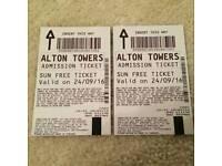2 Alton Towers ticket for tomorrow