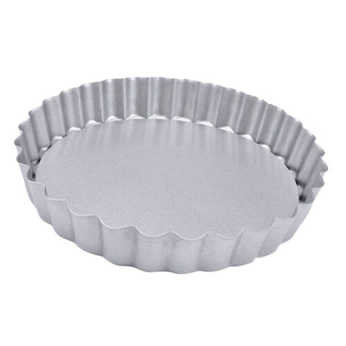 Non Stick Tart Tin Quiche Pastries Custard Round Pans