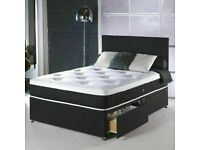 DESIGNER FURNITURE- DOUBLE AND KING SIZE DIVAN BED BASE w OPT MATTRESS-ORDER NOW