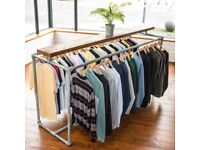 Large Industrial Style Clothing Shop display Rack Retail Unit