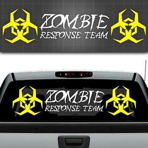 Zombie response team window decal zombie car sticker truck for 12 x 48 window