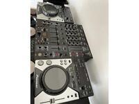 Pioneer CDJ 400 x2 and Behringer DJX900 USB mixer - DJ equipment