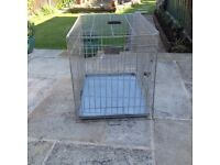 Large Metal Dog Cage In Good Condition