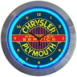 Chrysler Plymouth Licensed Neon Clock 15x15