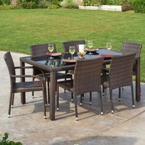 Ginsburg 7 Piece Outdoor Dining Set